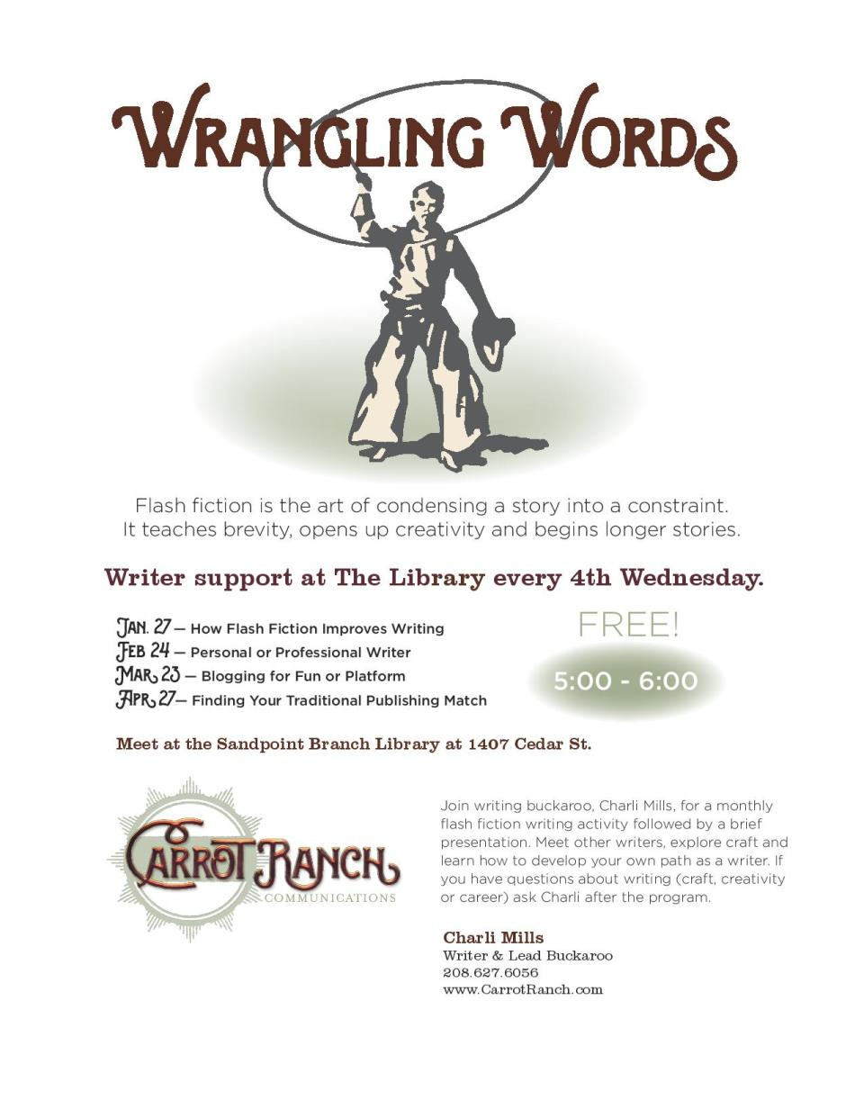 Wrangling Words Flyer Image