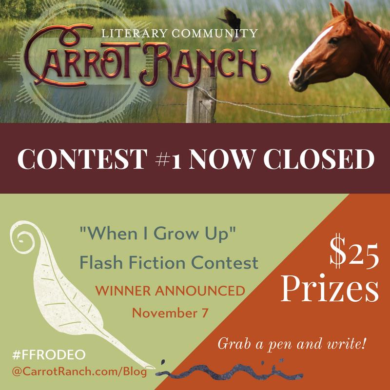 #FFRODEO Carrot Ranch @Charli_Mills