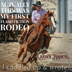 My First Flash Fiction Rodeo Carrot Ranch @Charli_Mills