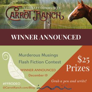 Murderous Musings Winner at Carrot Ranch @Charli_Mills